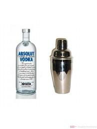 Absolut Wodka 40% 1,0l Vodka Flasche + Cocktailshaker
