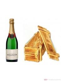 Bollinger Champagner Spezial Cuvée Brut in Holzkiste geflammt 12% 0,75l Flasche