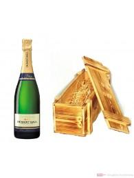 De Saint Gall Champagner Premier Cru Brut Tradition in Holzkiste geflammt 12 % 0,75l Flasche