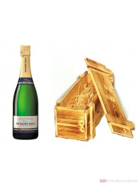 De Saint Gall Champagner Premier Cru Extra Brut Blanc de Blanc in Holzkiste geflammt 12% 0,75l Flasche