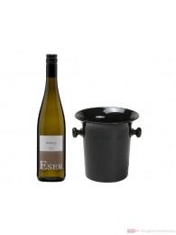 Hans Theo Eser Riesling Qba trocken Weißwein 2012 1,0l Wein Kübel