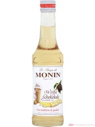 Le Sirop de Monin Weisse Chocolade Sirup 1:8 0,25l Flasche