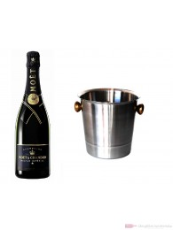 Moet & Chandon Champagner Nectar Impérial im Champagner Kühler Aluminium poliert 12% 0,75l Flasche
