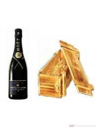 Moet & Chandon Champagner Nectar Impérial in Holzkiste geflammt 12% 0,75l Flasche