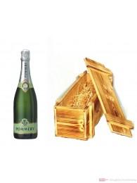 Pommery Champagner Blanc de Blanc Summertime in Holzkiste geflammt 12% 0,75l Flasche
