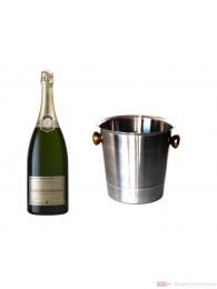 Roederer Champagner Premier Brut im Champagner Kühler Aluminium poliert 12% 0,75l Flasche