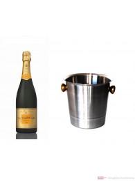 Veuve Clicquot Champagner Vintage 2004 im Champagner Kühler Aluminium poliert 12 % 0,75 l. Flasche