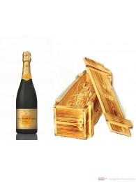 Veuve Clicquot Champagner Vintage 2004 in Holzkiste geflammt 12 % 0,75 l. Flasche