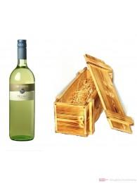 Zur Schwane Silvaner Qba trocken Weißwein 2009 12,5% 1,0l Flasche in Holzkiste geflammt