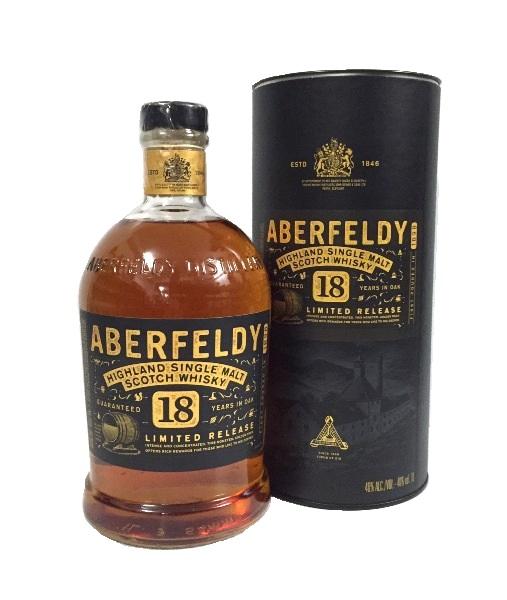 Single Malt Scotch Whisky der Marke Aberfeldy 18 Jahre 40% 1l Flasche