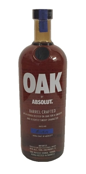 Wodka der Marke Absolut Oak Barrel Craftet 40% 1,0l Flasche