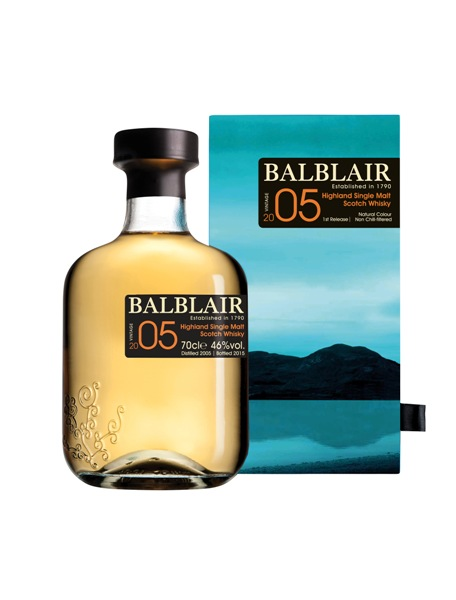 Single Malt Scotch Whisky der Marke Balblair 2005 1st Release 46% 0,7l Flasche