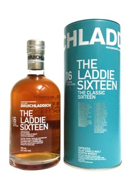 Single Malt Scotch Whisky der Marke Bruichladdich The Laddie Sixteen 46% 0,7l Flasche