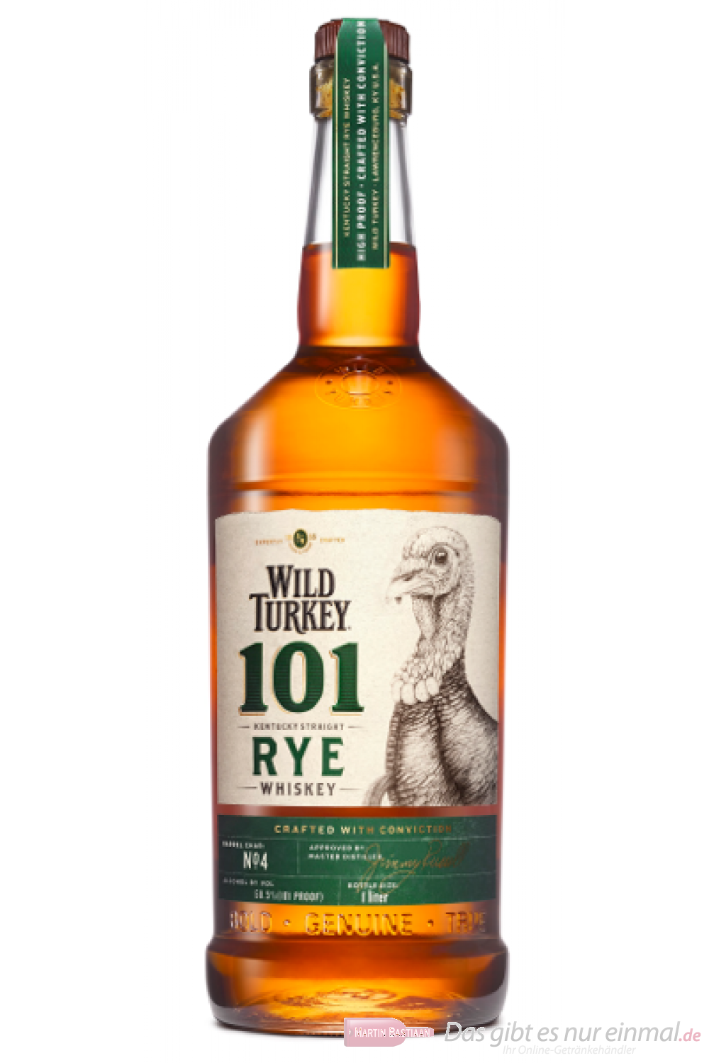 Wild Turkey 101 Rye Kentucky Straight Rye Whiskey 1l