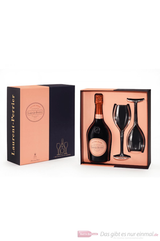 Laurent Perrier Rosé + 2 Gläser Brut Champagner 0,75l