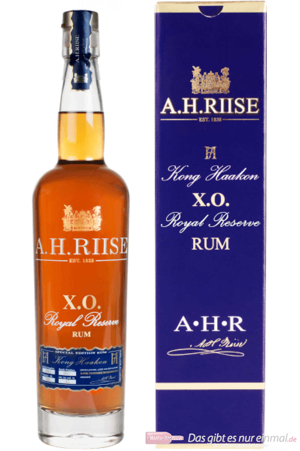 A. H. Riise X.O. Reserve Kong Haakon Rum 0,7l