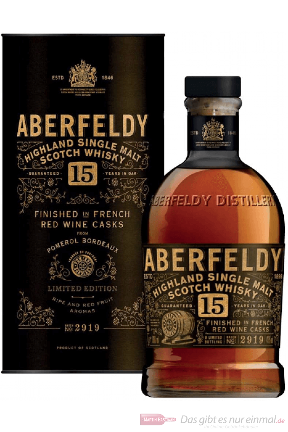 Aberfeldy 15 Jahre Highland Single Malt Scotch Whisky 0,7l