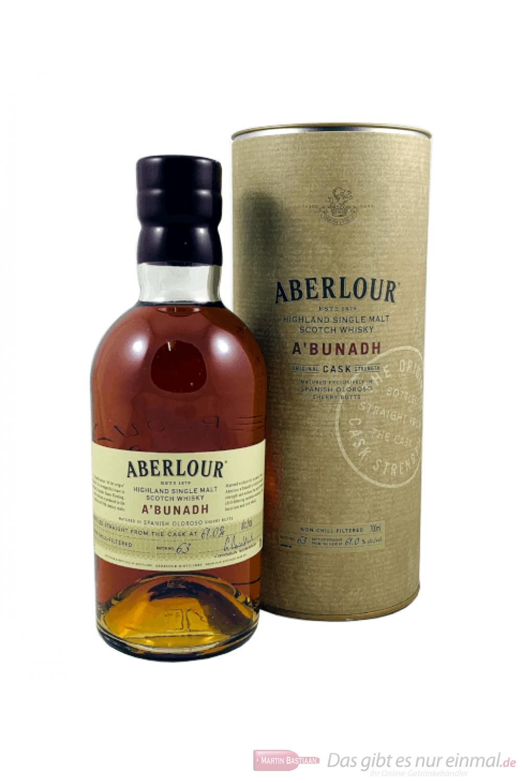 Aberlour a'bunadh Batch 63 Single Malt Speyside Scotch Whisky