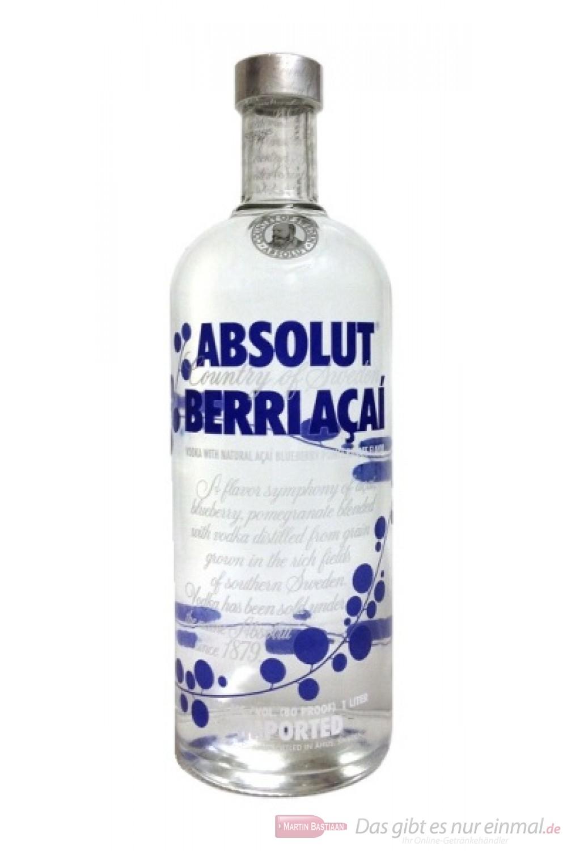 Der Absolut Berri Acai Vodka überzeugt durch seinen fruchtigen Geschmack. Freunde der flavored Vodkas werden beim Absolut Vodka Berri Acai voll auf Ihre Kosten kommen. Lassen auch Sie sich vom Absolut Berri Acai begeistern.