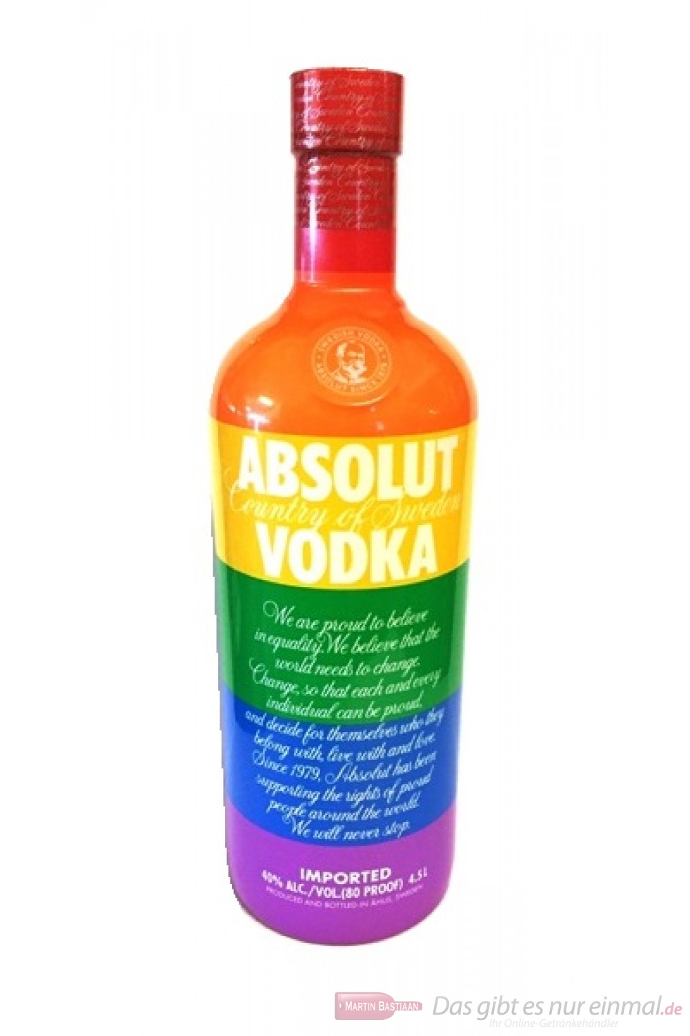 Absolut Vodka Colors Großflasche