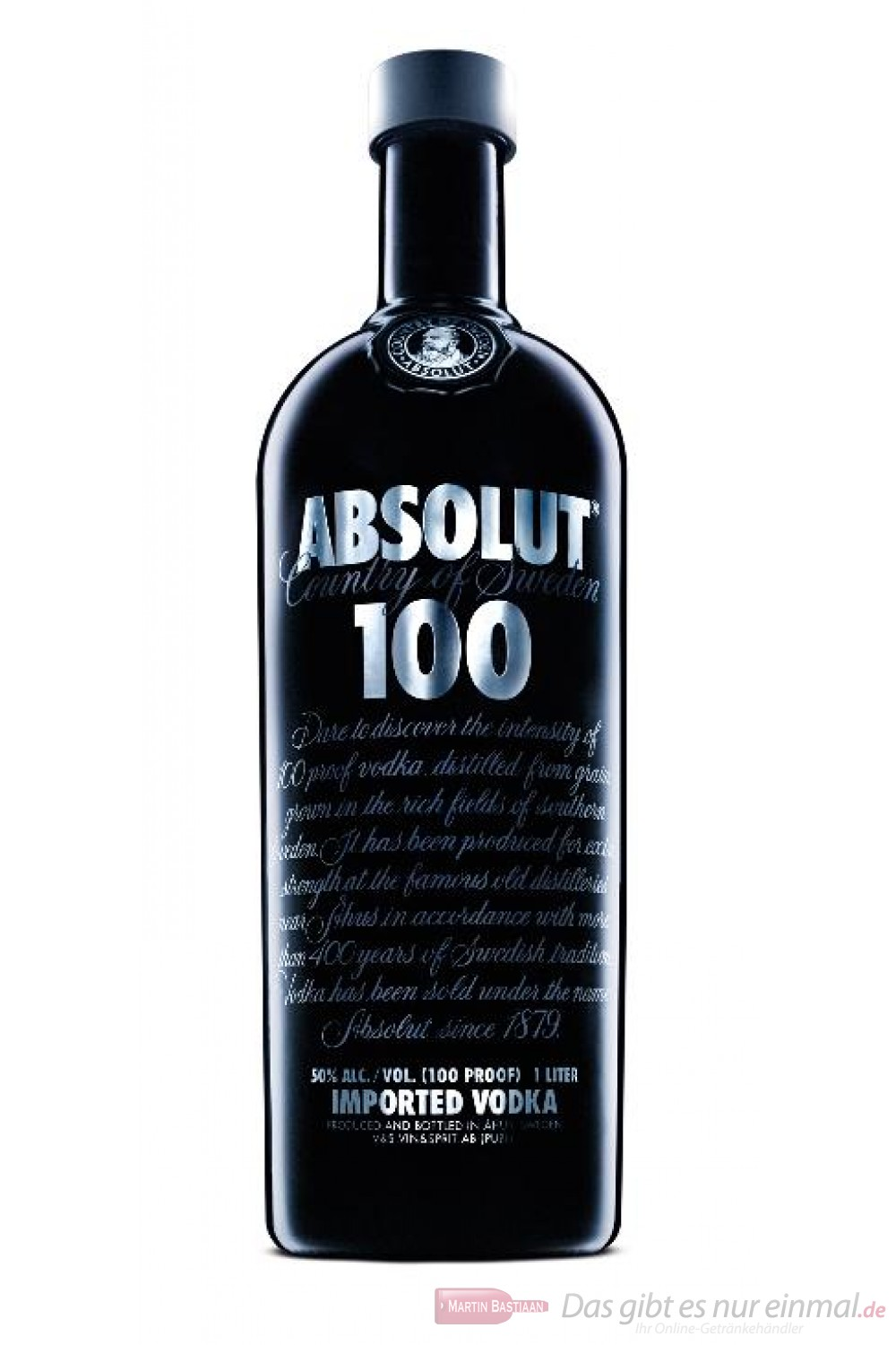 Absolut Wodka 100 Proof 50 % Vodka 1,0 l Flasche