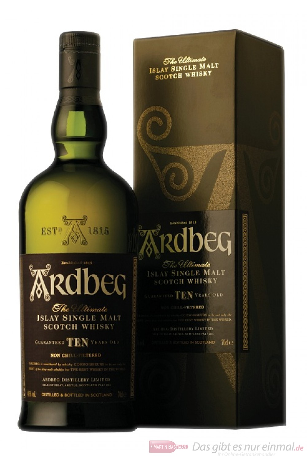 Ardbeg Ten years Islay Single Malt Whisky 46% 1,0l Flasche