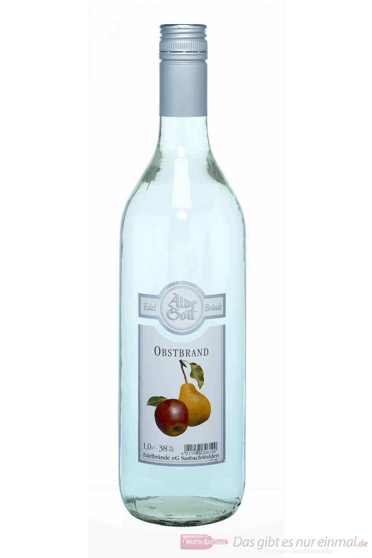 Alde Gott Obstbrand 38% 1,0l Flasche