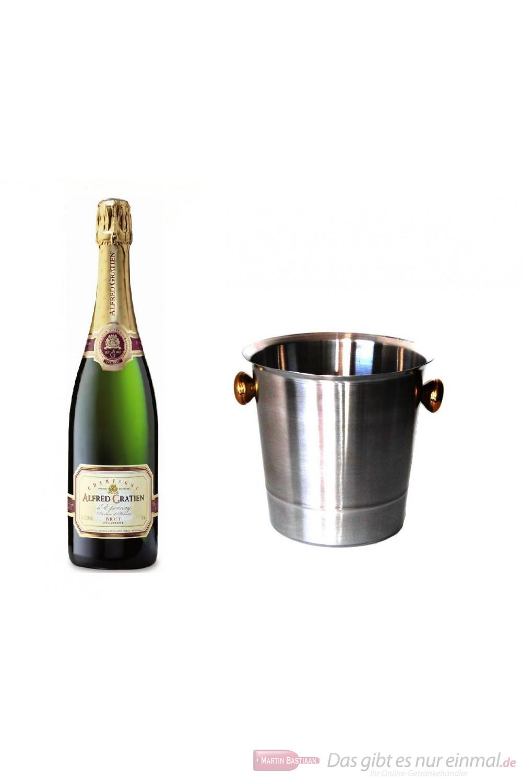 Alfred Gratien Champagner Brut Classique im Champagner Kühler Aluminium poliert 12% 0,75l