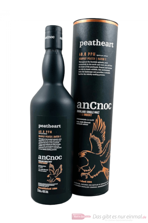 AnCnoc Peatheart Single Malt Scotch Whisky 0,7l