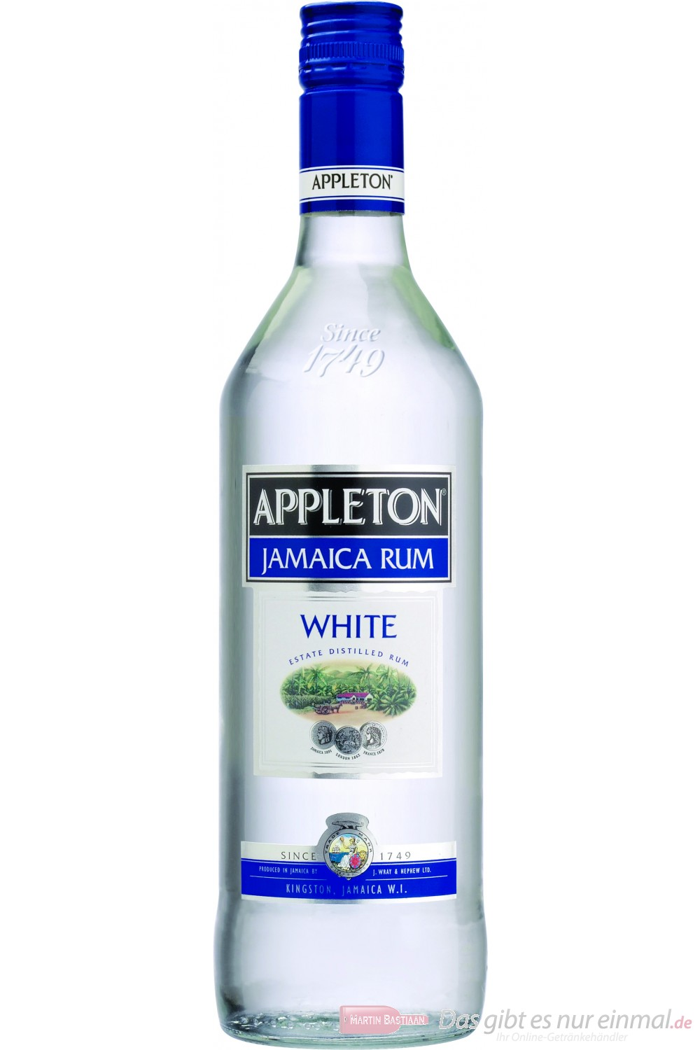 Appleton White Rum 37,5% 0,7l Ron Flasche