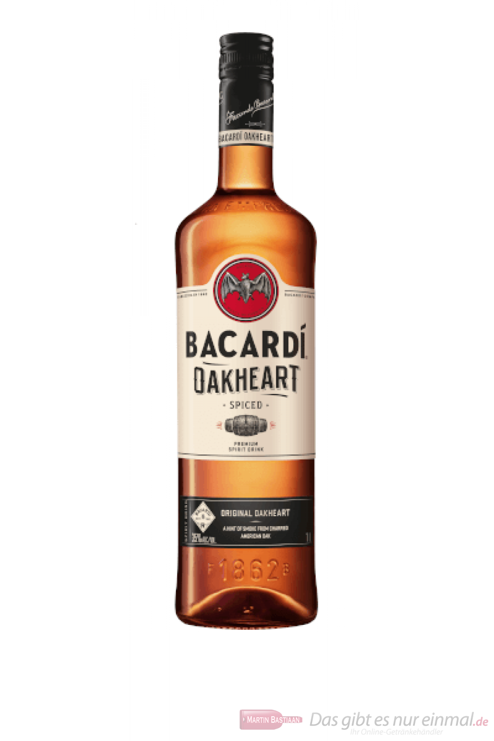 Bacardi Oakheart Smooth & Spiced Spirit Drink 1,0l