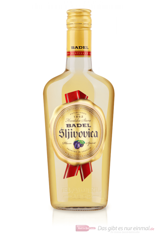 Badel Slivovica alter Pflaumenbrand Obstler 0,5l