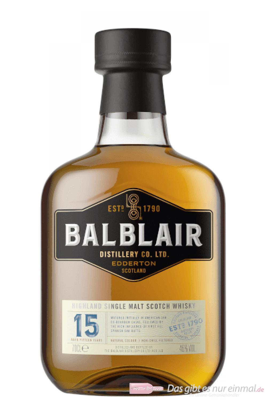 Balblair 15 Years Single Malt Scotch Whisky 0,7l