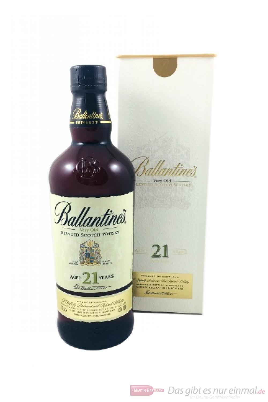 Ballantine`s 21 years