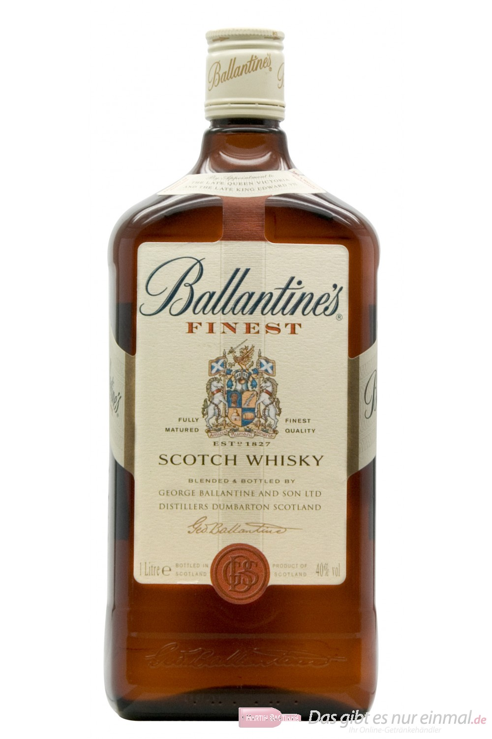 Ballantine´s Finest Blended Scotch Whisky 40% 1,0 l Whiskey Flasche