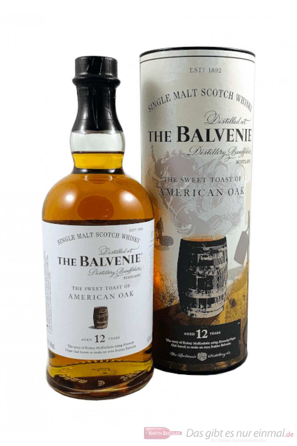 The Balvenie 12 Years The Sweet Toast of American Oak Whisky 0,7l