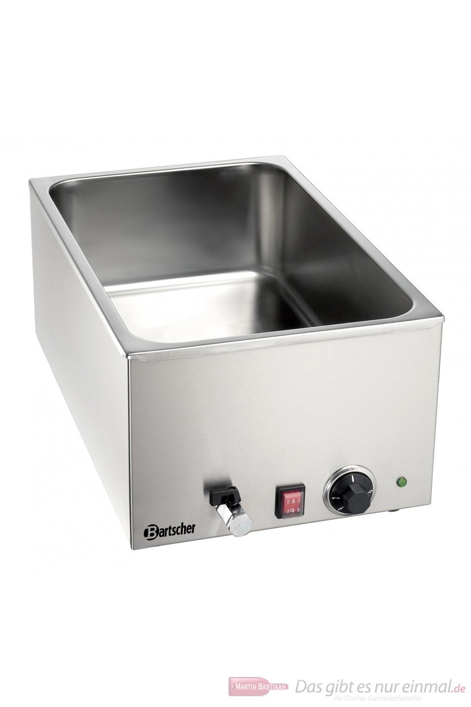Bartscher Wasserbad Bain Marie  1/1 GN 150 mm tief mit Wasserablaufhahn