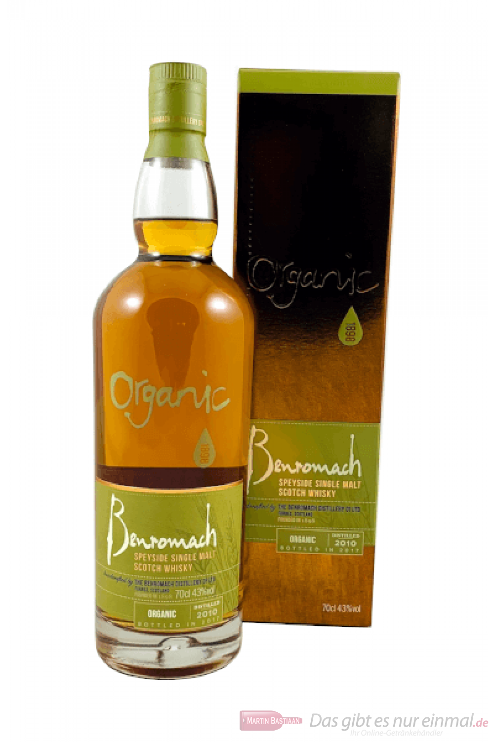Benromach Organic Speyside Single Malt Scotch Whisky 0,7l