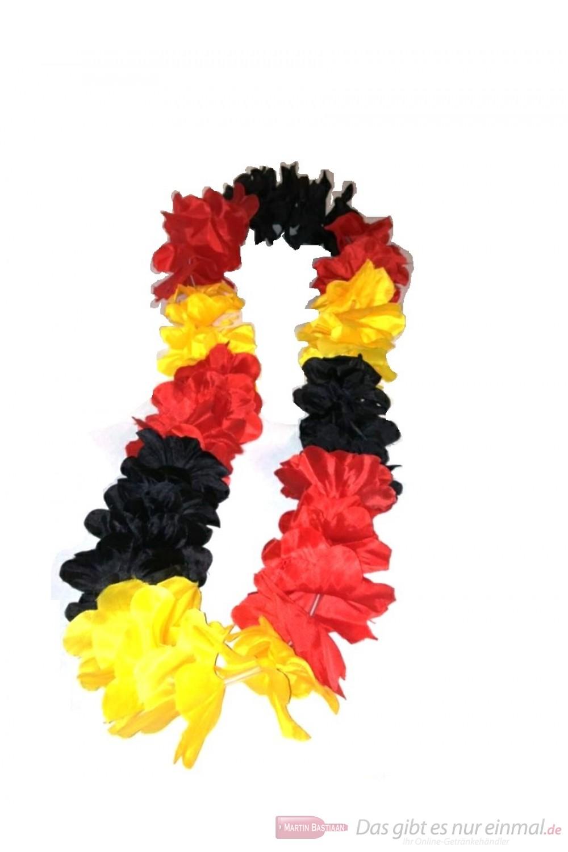 10 Blumenketten / Hawaiketten Deutschland Germany schwarz rot gold ideal für die Europameisterschaft