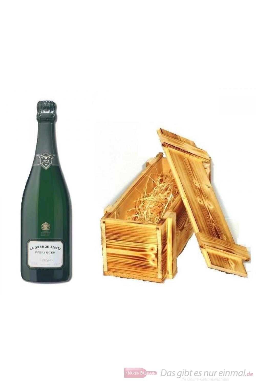 Bollinger Champagner La Grande Annee in Holzkiste