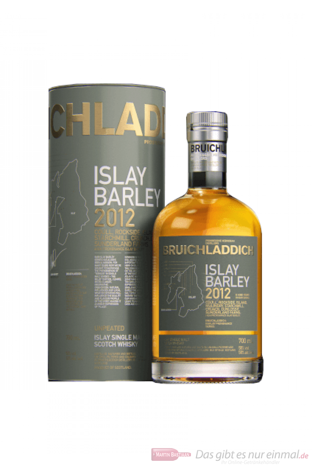 Bruichladdich Islay Barley 2012 Single Malt Scotch Whisky 0,7l