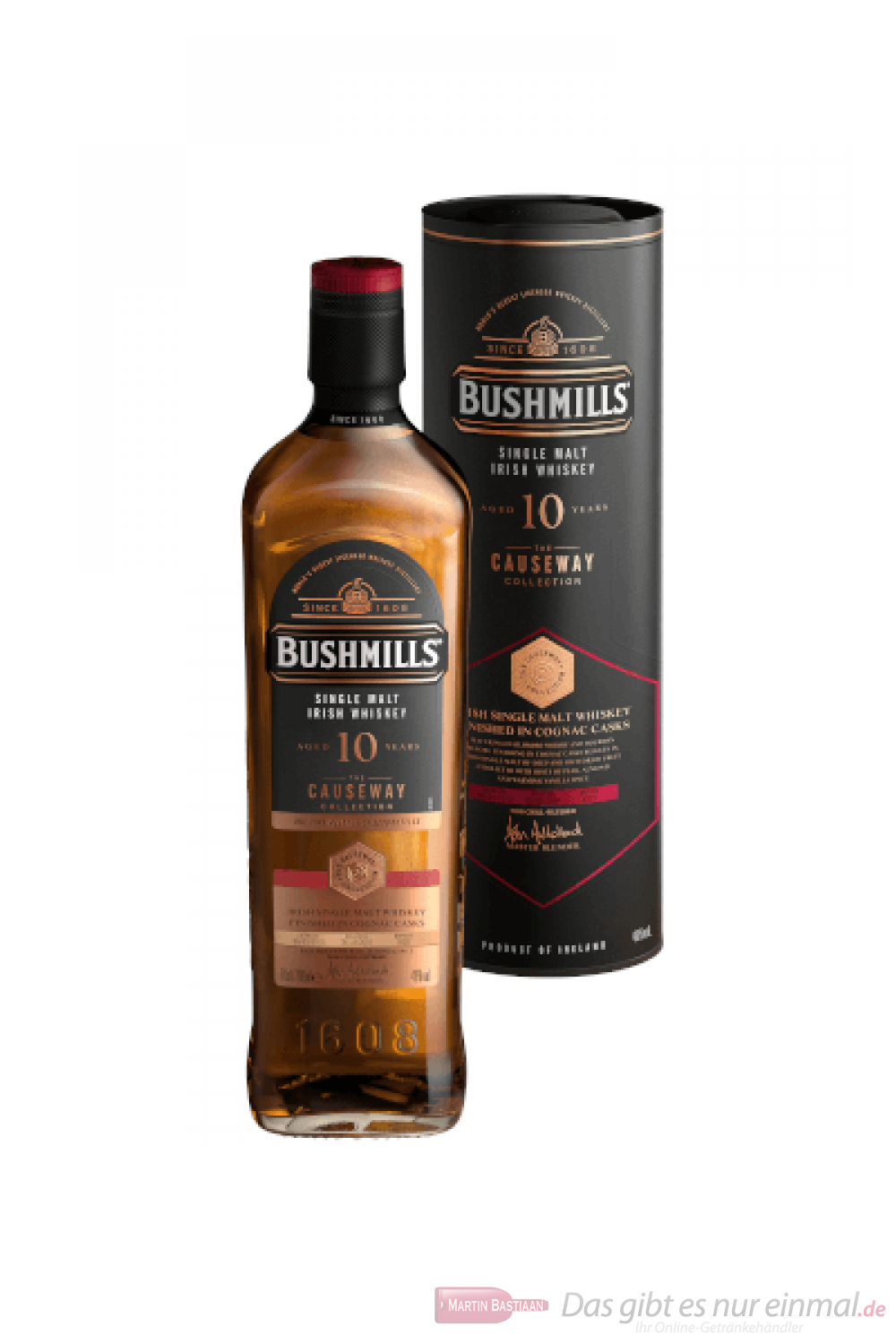 Bushmills Causeway Collection Cognac Cask 10 Years Irish Whiskey 0,7l