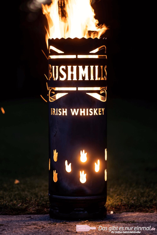 Bushmills Whiskey Feuertonne groß