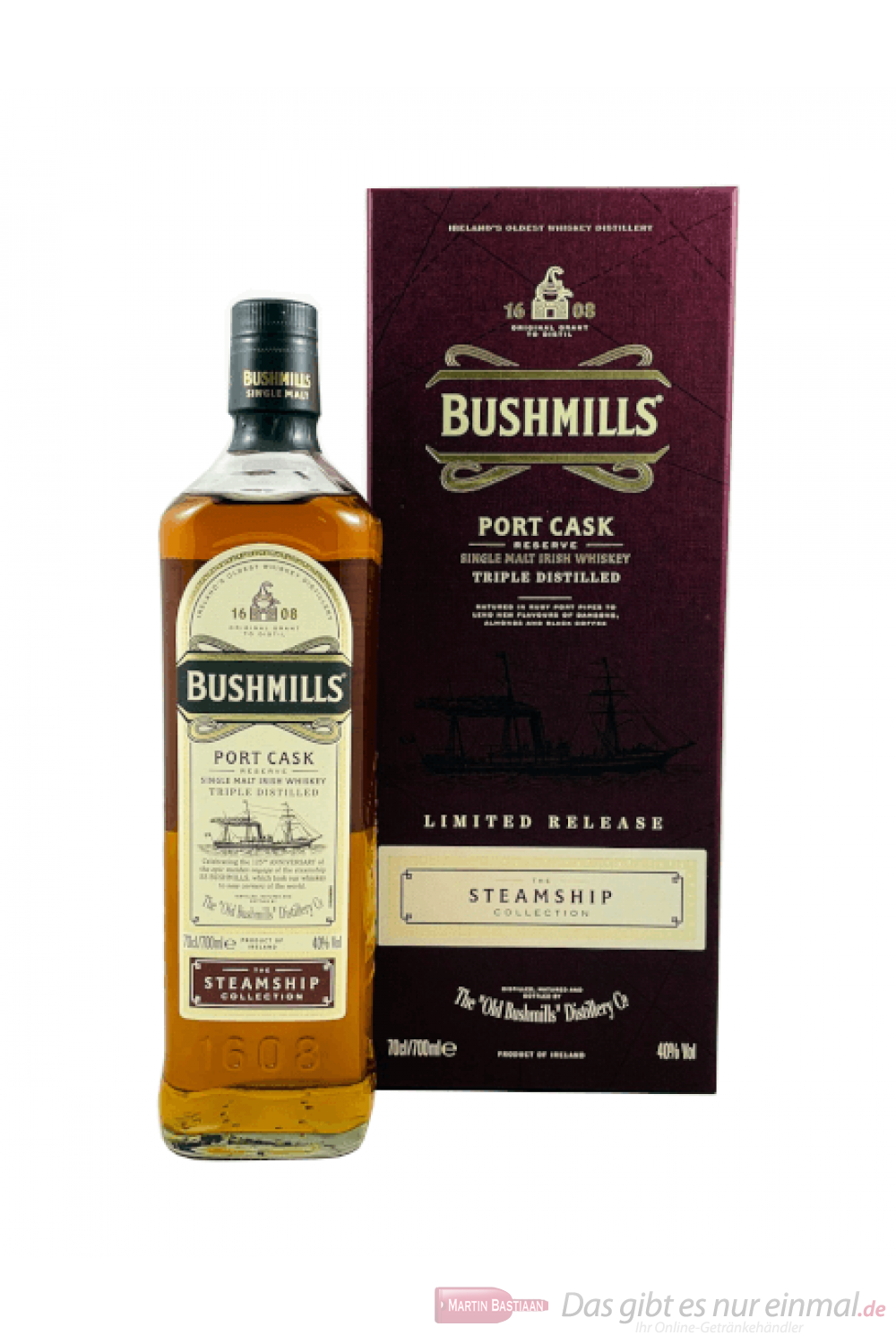 Bushmills Steamship Port Cask Single Malt Irish Whiskey 0,7l