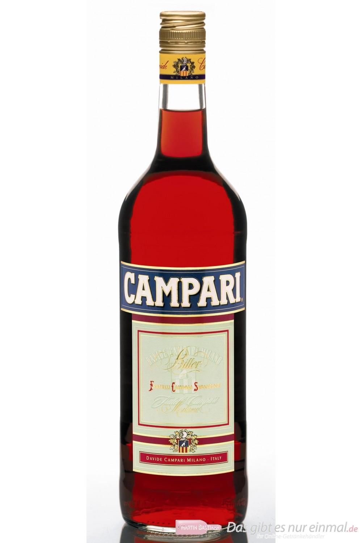Campari Bitter Likör 25% 1,0l Liqueur Flasche