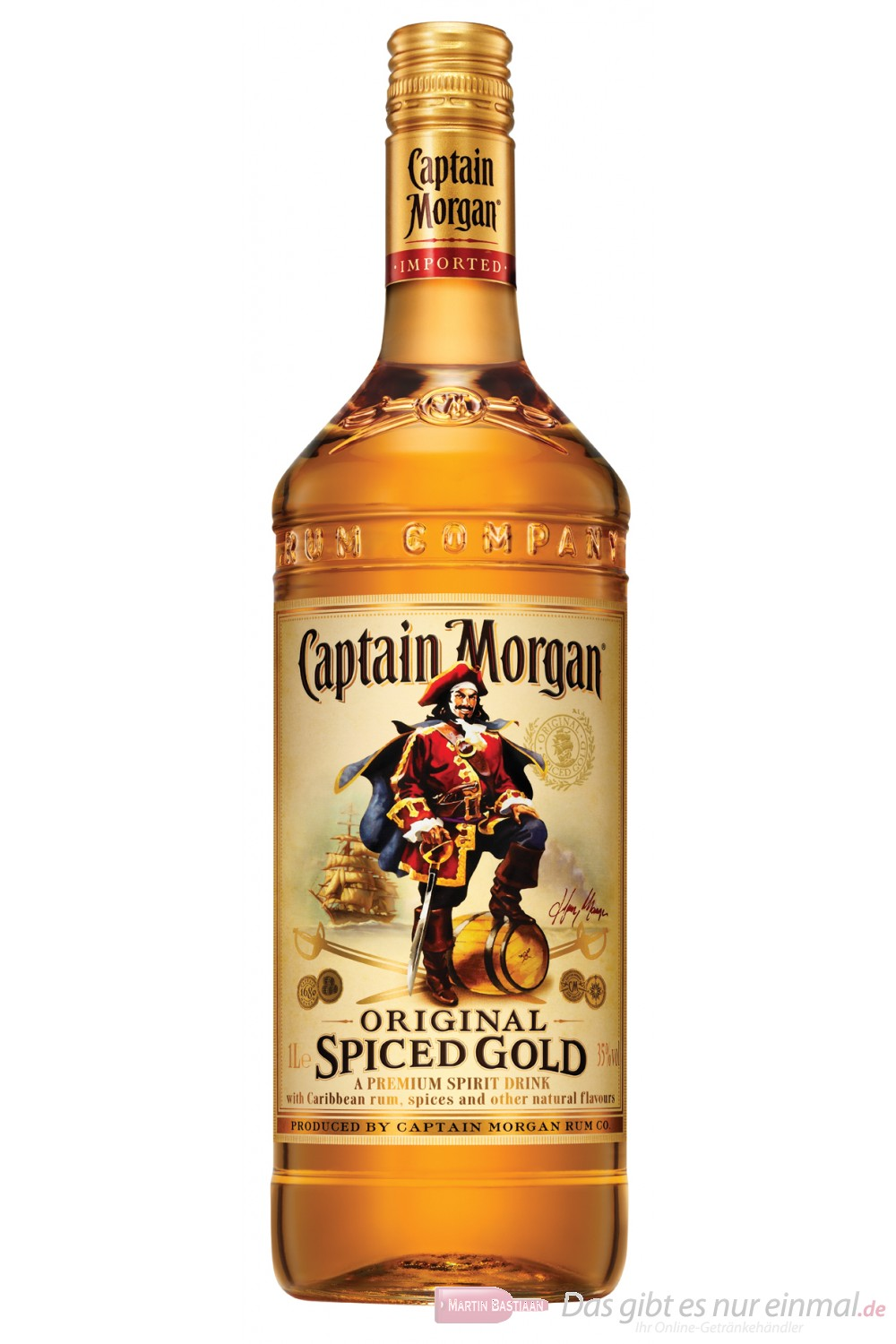 Captain Morgan Spiced Gold Großflasche