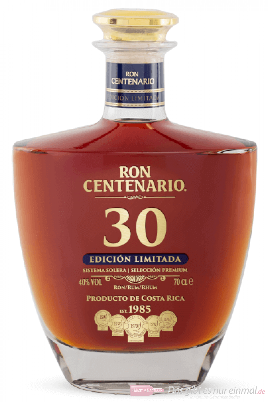 Centenario 30 Edición Limitada Rum 0,7l