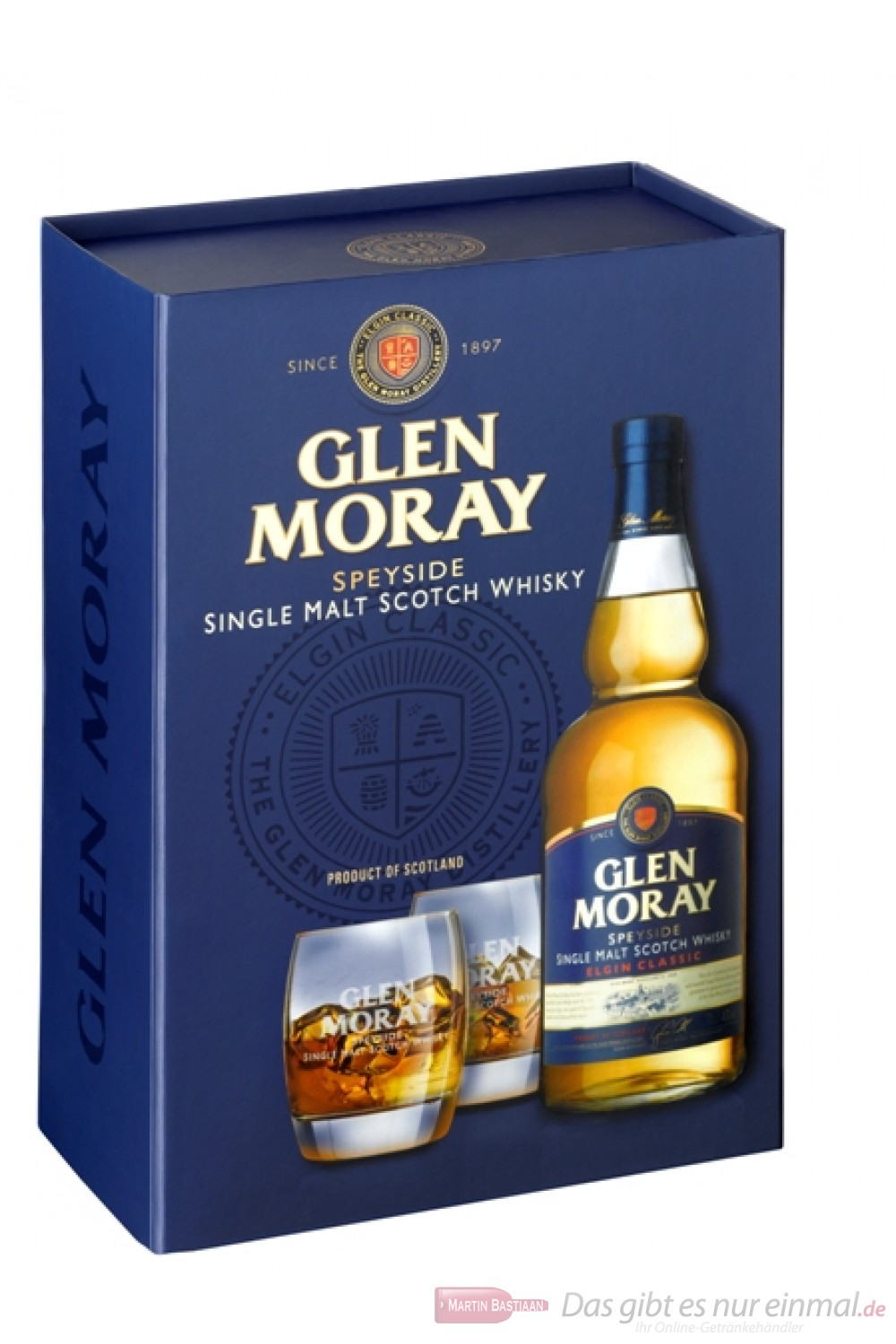 Glen Moray Elgin Classic mit Glas