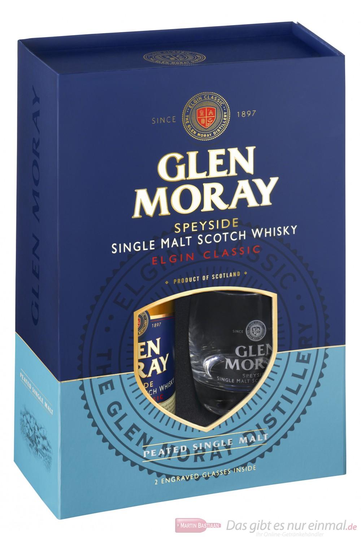 Glen Moray Elgin Classic Peated mit Glas