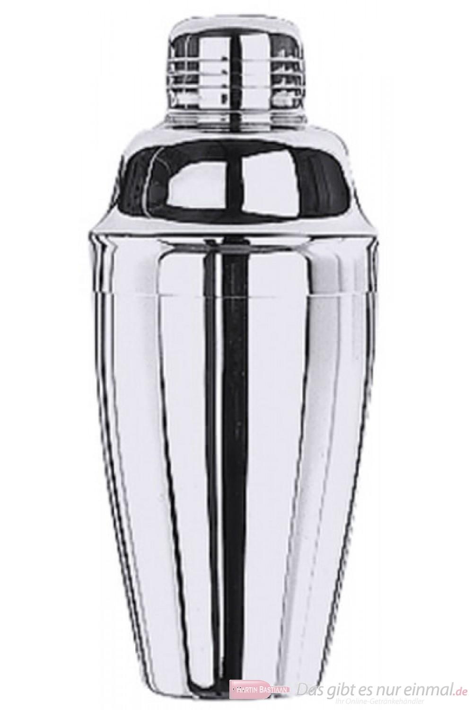 Contacto Cocktailshaker Cobbler Shaker dreiteilig aus Edelstahl 0,5 l